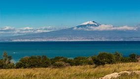Etna and sea Royalty Free Stock Images