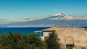 Etna and sea Royalty Free Stock Photography