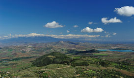 Etna Sicilian landscape 2. This photograph was made at Aidone (nicknamed the balcony of Sicily), a small mountain town the province of Enna, in the center of Royalty Free Stock Photography