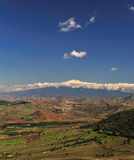 Etna Sicilian landscape 3. This photograph was made at Aidone (nicknamed the balcony of Sicily), a small mountain town the province of Enna, in the center of Stock Images
