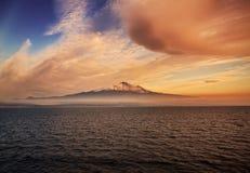 Etna in Sicily Stock Photo