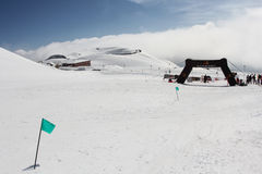 Etna Ski Alp - World Championship 2012 International Trophy Etna Royalty Free Stock Image