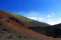 Etna Slope - Sicily. The volcanic slope of Mount Etna, in Sicily, Italy Stock Image