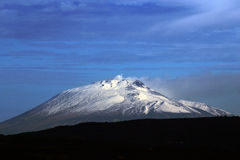 Etna snowy Stock Images