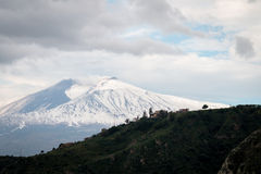 Etna snowy royalty free stock images