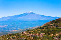 Etna in summer day, Sicily Royalty Free Stock Image