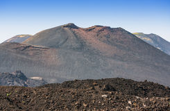 Etna summit craters of south-east panorama, Sicily Stock Photography