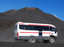 Etna touristic bus, Sicily, Italy Royalty Free Stock Photo