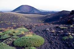 Etna trekking. Trekking on Etna volcano in Sicily Stock Photos