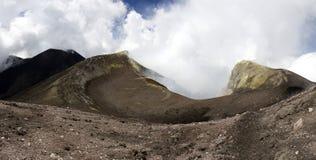 Etna Unesco - krater Arkivbilder