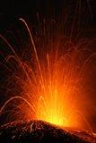Etna van de vulkaan uitbarsting Royalty-vrije Stock Foto's