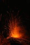 Etna van de vulkaan uitbarsting Royalty-vrije Stock Afbeelding