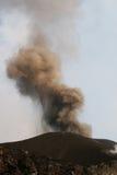 Etna van de vulkaan uitbarsting Royalty-vrije Stock Afbeeldingen