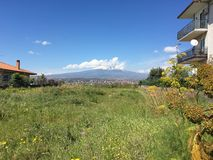 Etna view by Catania City Stock Photo