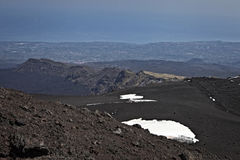 Etna. View of Mount Etna and its craters and landscapes, Sicily, Italy, the highest active volcano in Europe Stock Images