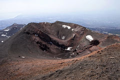 Etna. View of Mount Etna and its craters and landscapes, Sicily, Italy, the highest active volcano in Europe Stock Photos
