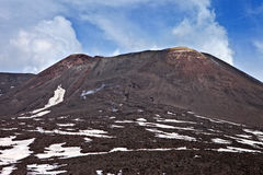 Etna. View of Mount Etna and its craters and landscapes, Sicily, Italy, the highest active volcano in Europe Stock Photo