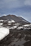 Etna. View of Mount Etna and its craters and landscapes, Sicily, Italy, the highest active volcano in Europe Royalty Free Stock Photo