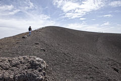 Etna. A view of the top of Mount Etna, in Sicily in Italy, the tallest active volcano in Europe Stock Images