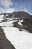 Etna. A view of the top of Mount Etna, in Sicily in Italy, the tallest active volcano in Europe Stock Photos