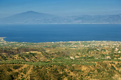Etna visible from Aspromonte Stock Photography