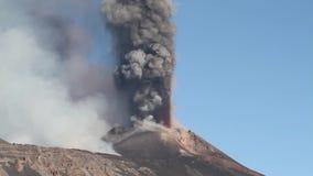 Etna Volcanic ash emission stock video footage