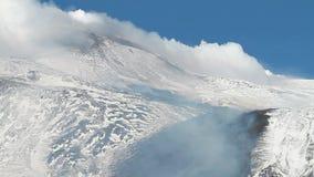 Etna, volcanic degassing stock video