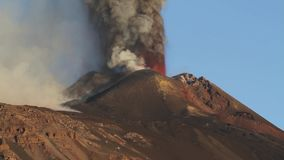 Etna: volcanic eruption stock video footage