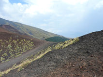 Etna volcanic landscape royalty free stock photos