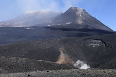 Etna volcano. The top of the Etna volcano. Sicily. Italy stock images