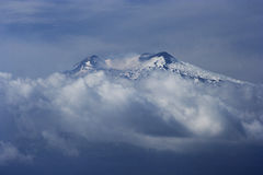 Etna volcano. With fresh snow in autumn Stock Image