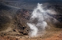 Etna volcano active crater Stock Photo