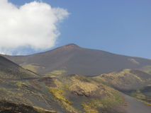 ETNA VOLCANO. On a blue sky Royalty Free Stock Photos