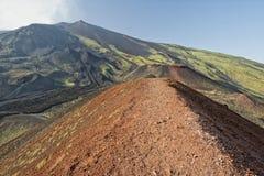 Etna volcano caldera landscape Stock Photography