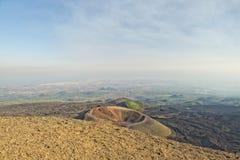 Etna volcano caldera landscape Stock Photo