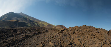 Etna volcano caldera landscape Royalty Free Stock Photos