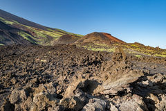 Etna volcano caldera landscape Stock Image