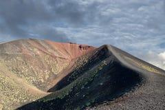Etna volcano caldera landscape Royalty Free Stock Image