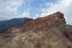 Etna volcano caldera Lava Stock Image