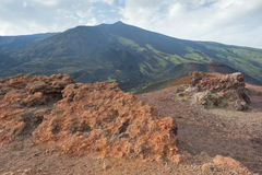 Etna volcano caldera Lava Stock Photo