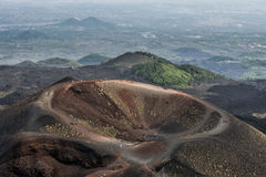 Etna volcano caldera Royalty Free Stock Photo