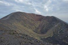 Etna volcano caldera Stock Image