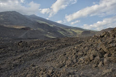 Etna volcano caldera Stock Photography