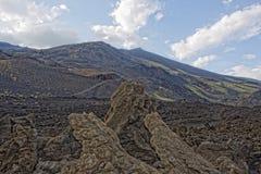 Etna volcano caldera Stock Photography