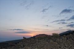 Etna volcano caldera Royalty Free Stock Photo