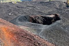 Etna volcano crater Stock Photo