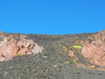 Etna volcano crater Stock Images