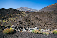 Etna volcano craters in Sicily, Italy Stock Photography