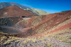 Etna volcano craters in Sicily, Italy Stock Images