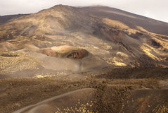 Etna volcano craters in Sicily, Italy. Europa Royalty Free Stock Image